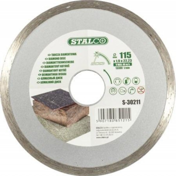 Tarcza diamentowa pełna 125 mm